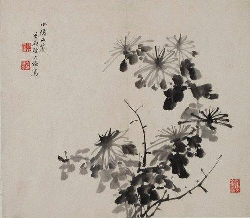 An image of Chrysanthemum spray by Xu Dalun