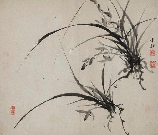 An image of Two orchid plants by XU Dalun