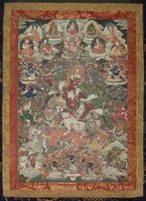 An image of Phalden Lhamo and her retinue by