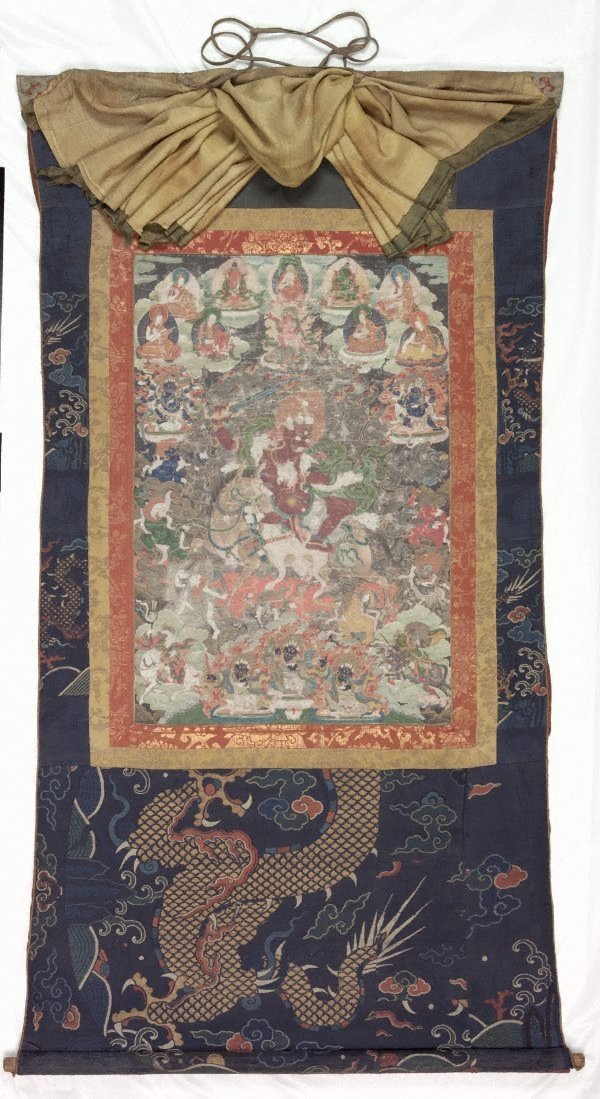 An image of Phalden Lhamo and her retinue