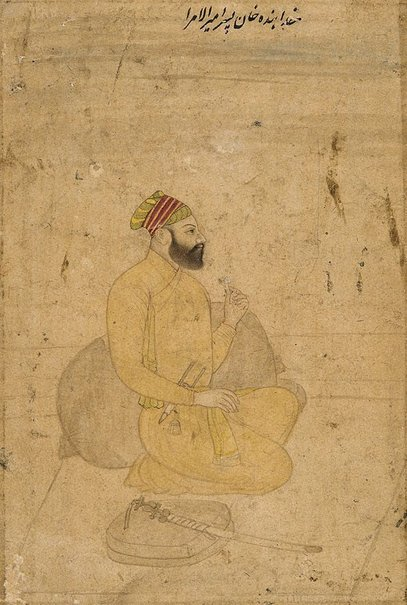 An image of Portrait of Khuda-Banda Khan, son of Amir-ul-umara by
