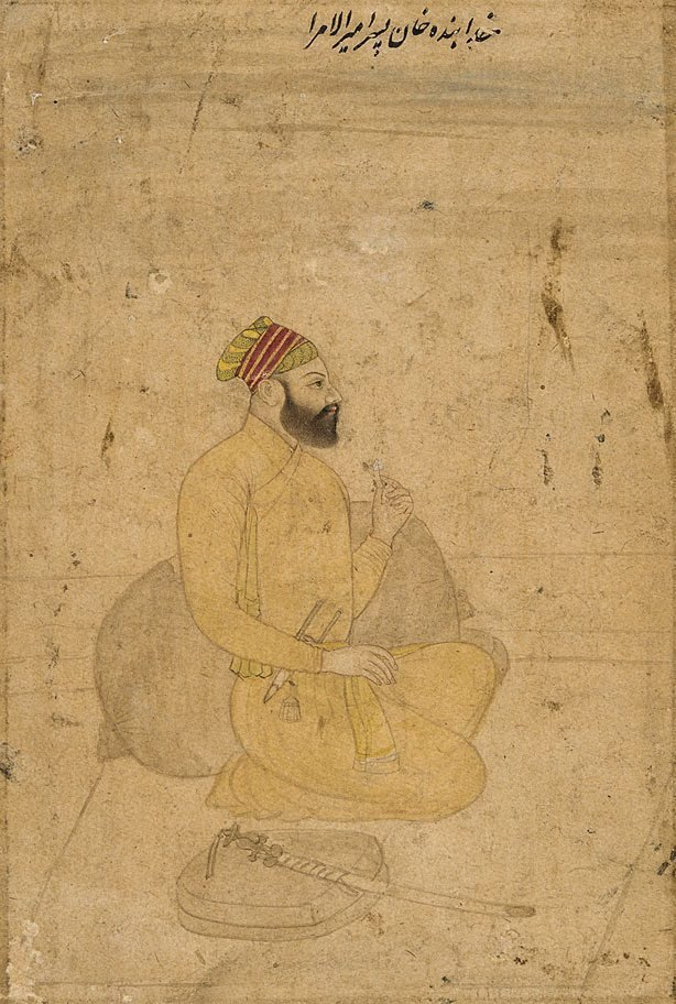 An image of Portrait of Khuda-Banda Khan, son of Amir-ul-umara