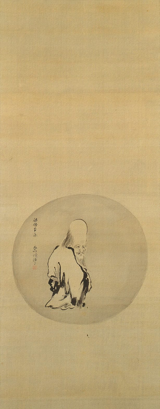 An image of God of Longevity in the style of Liang Kai