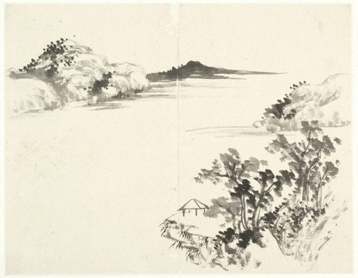 An image of (Landscape with pavilion on a promontory) by Cheng Sui