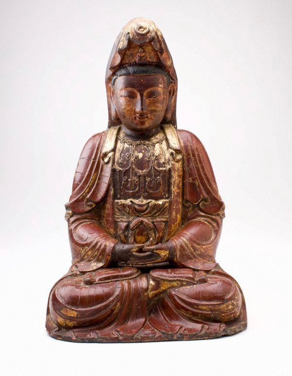 An image of Seated figure of Guanyin