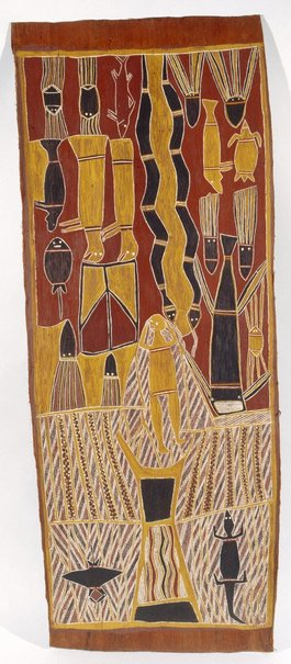 An image of The Thunder Spirits (Birimbira) by Muŋgurrawuy Yunupiŋu