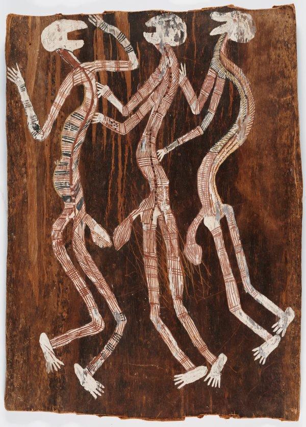 An image of Three mimihs dancing