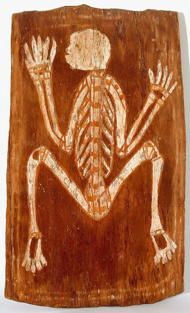 An image of Spirit in the form of a skeleton