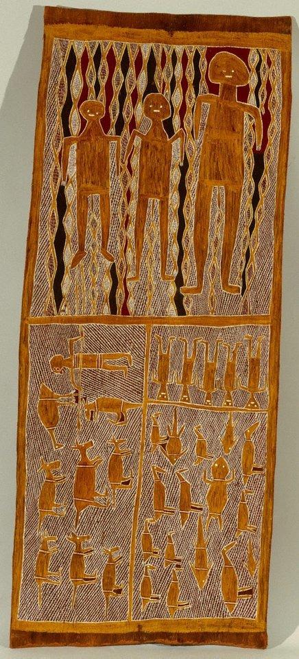 Lany'tjung - Barama & Gulparemun, circa 1960 by Muŋgurrawuy Yunupiŋu