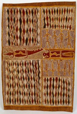 AGNSW collection Munggurrawuy Yunupingu Lany'tjung - Banaidja Story (1960) IA27.1960