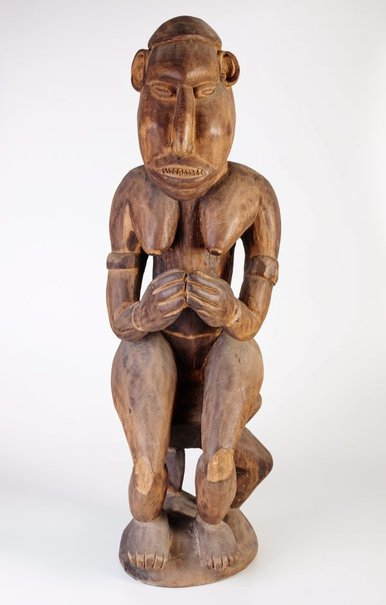 An image of Figure (Female seated on stool) by