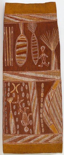 An image of Wagilak by Binyinyuwuy Djarrankuykuy