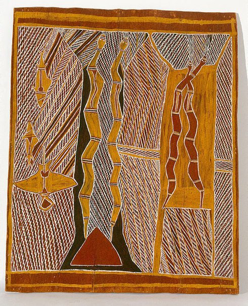 An image of The Rain Men (Birimbira) by Muŋgurrawuy Yunupiŋu