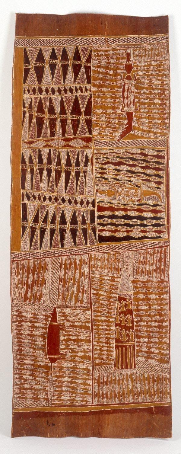 Lany'tjung story (Crocodile and Bandicoot), (1959) by Munggurrawuy Yunupingu