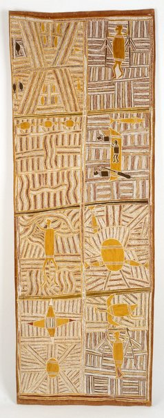 An image of Djan'kawu creation story by Mawalan Marika, Wandjuk Marika, Mathaman Marika, Woreimo
