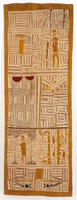 AGNSW collection Mawalan Marika Djan'kawu creation story (1959) IA66.1959