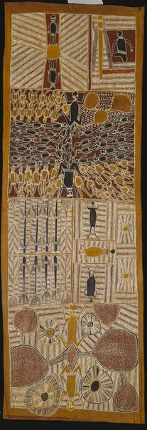 An image of Djan'kawu creation story by Mawalan Marika