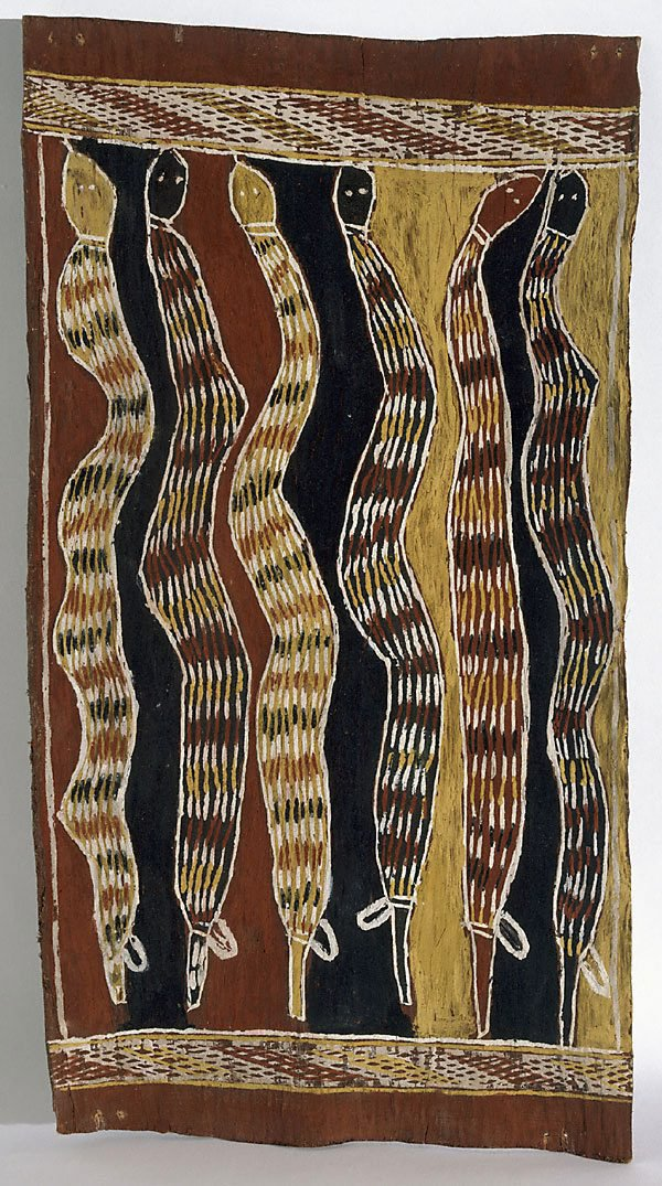 An image of Därrpa (king brown snakes) - Djambarrpuyngu rain story