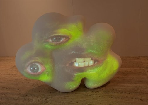 An image of Mo by Tony Oursler