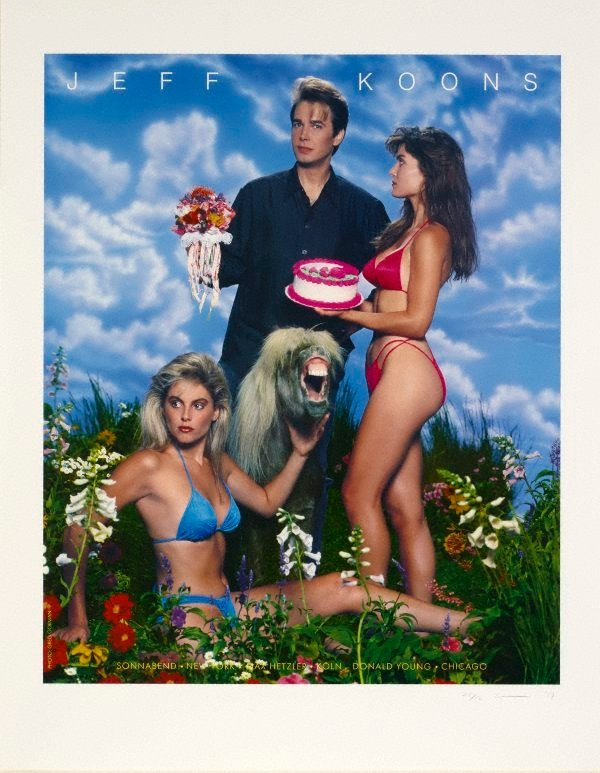 AGNSW collection Jeff Koons Art Magazine Ads (1988-1989) L2010.144.a-d