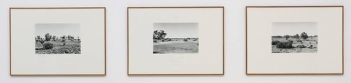 An image of A hundred mile walk along a straight line in Australia by Richard Long