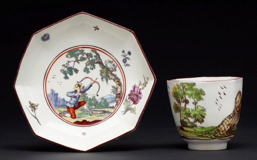 An image of Tea bowl and saucer by Chelsea