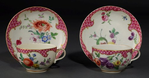 An image of Pair of cups and saucers by Worcester