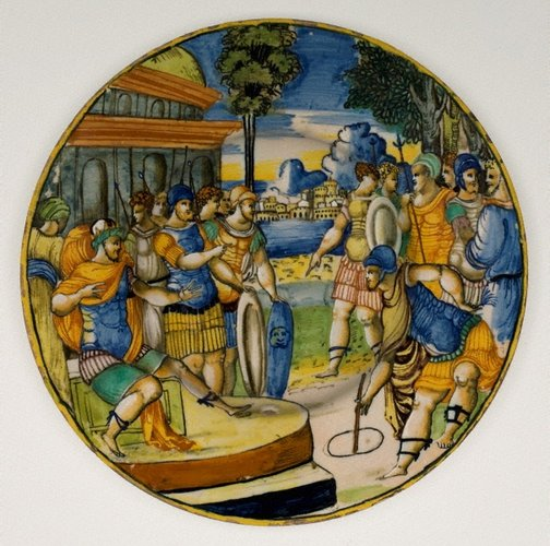 An image of Plate: Gaius Popilius Laenas before the King of Syria by Unknown
