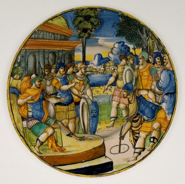 An image of Plate: Gaius Popilius Laenas before the King of Syria
