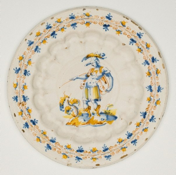 An image of Large plate: Warrior