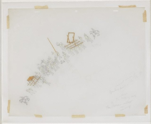 An image of Untitled (study for The modern procession III)