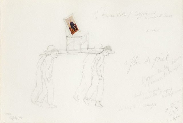 An image of Untitled (study for The modern procession-Frida Kahlo)