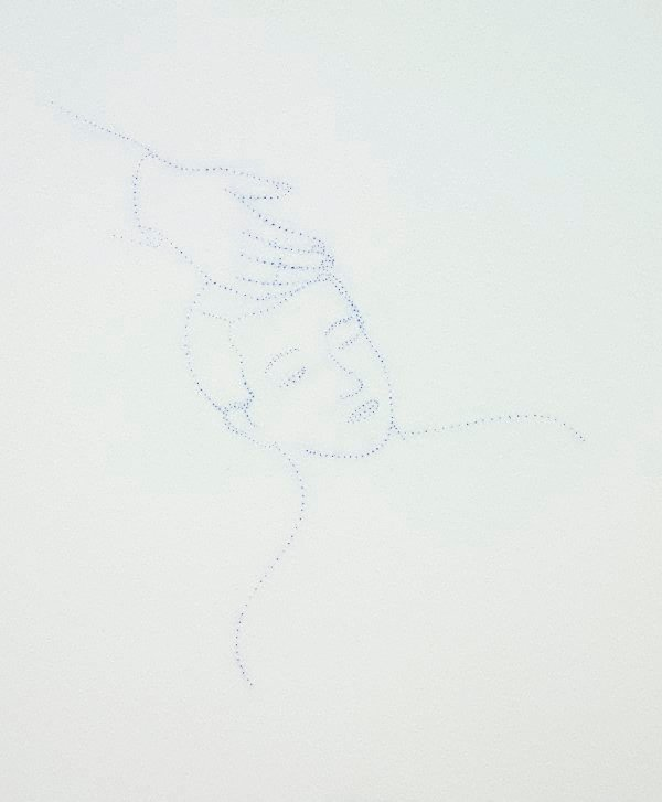 An image of Untitled (man asleep with hand on head)
