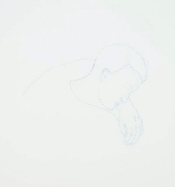 An image of Untitled (man curled asleep)