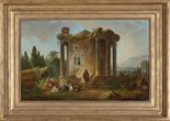 Alternate image of Landscape with temple by Hubert Robert