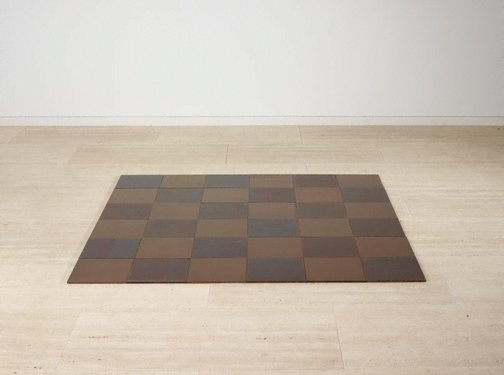 An image of Steel-copper plain by Carl Andre