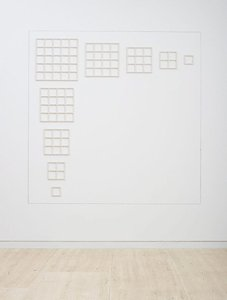 Wall structure 123454321, (1979) by Sol LeWitt