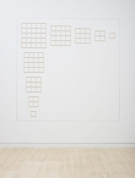 An image of Wall structure 123454321 by Sol LeWitt