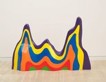 Alternate image of Non-geometric form (splotch) #5 by Sol LeWitt