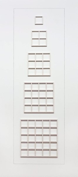 An image of Wall structure 54321 by Sol LeWitt