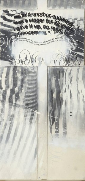 An image of Untitled (protest painting) by Richard Prince