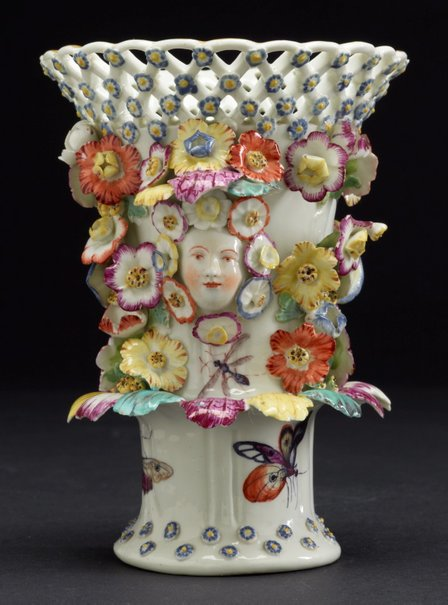 An image of Frill vase [one of pair] by Derby