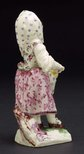 Alternate image of Girl playing the hurdy-gurdy by Mennecy-Villeroy porcelain