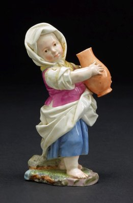 Alternate image of Girl carrying a pitcher, model by Höchst