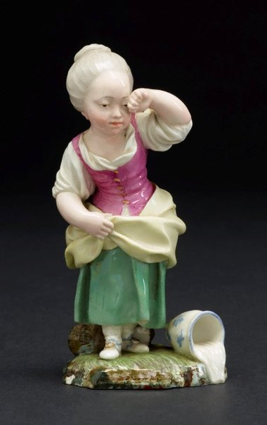 An image of Girl crying over spilt milk, model by Höchst