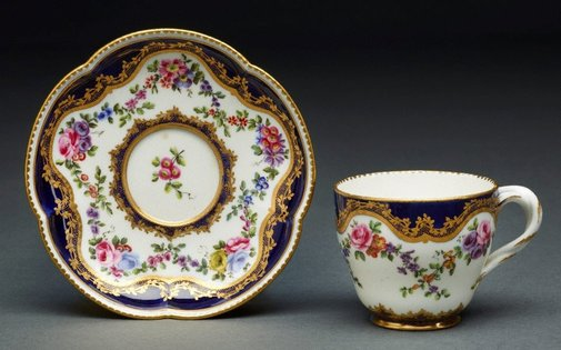 An image of Cup and saucer (gobelet Hebert) by Sèvres