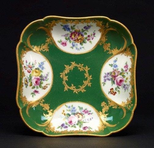 An image of Square dish (compotier carré) by Sèvres