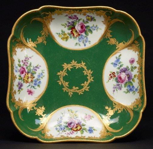 An image of Square dish (compotier carré) by Sèvres