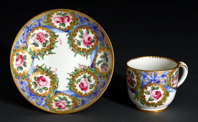 An image of Cup and saucer (gobelet Bouillard)