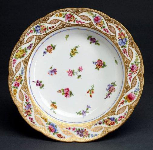 An image of Soup plate (assiette à potage) by Sèvres